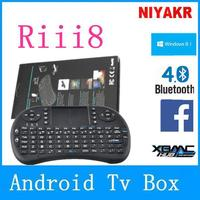 2.4G Rii Mini i8 Wireless Keyboard with Touchpad 2.4g air mouse keyboard