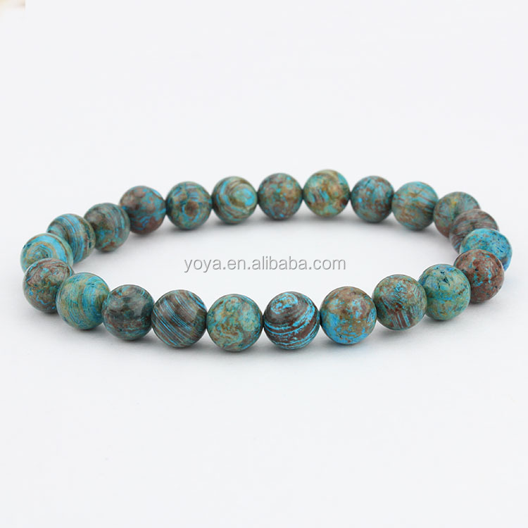 BRG1054 crazy lace agate stone beads elastic bracelet,gemstone beads stretch bracelet, Zodiac Bracelet