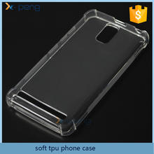2017 wholesale Transparent Ultra-Thin TPU Soft mobile phone back cover case for Lenovo A6600 plus