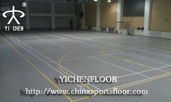 Yichen pvc outdoor flooring roll/basketball/porch/stair/dance floor and sports floor In Stock