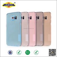 transparent colorfur tpu case for samsung S6 edge plus , new thin tpu gel case