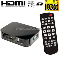 Full HD 1080P Media player Boxchip F10 Digital USB player support HDMI & VGA output
