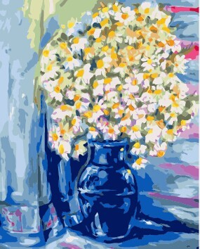 Wholesale 40*50 2.5cm frame flower vase diy oil Painting by numbers on canvas From painting factory with 3ml vacuum acrylic