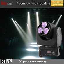 China factory direct sale 3x4in1 15w led mini zoom wash moving head light DMX manual for stage party