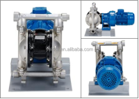 DBY3 electric diaphragm pumps in stainless steel with rubber diaphragm