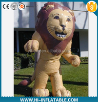 2015 popular advertising inflatable lion cartoon, inflatable lion mascot