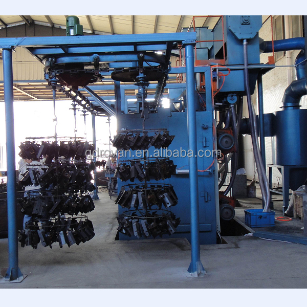 continous hanging chain type gas cylinder shot blasting machine for rust cleaning