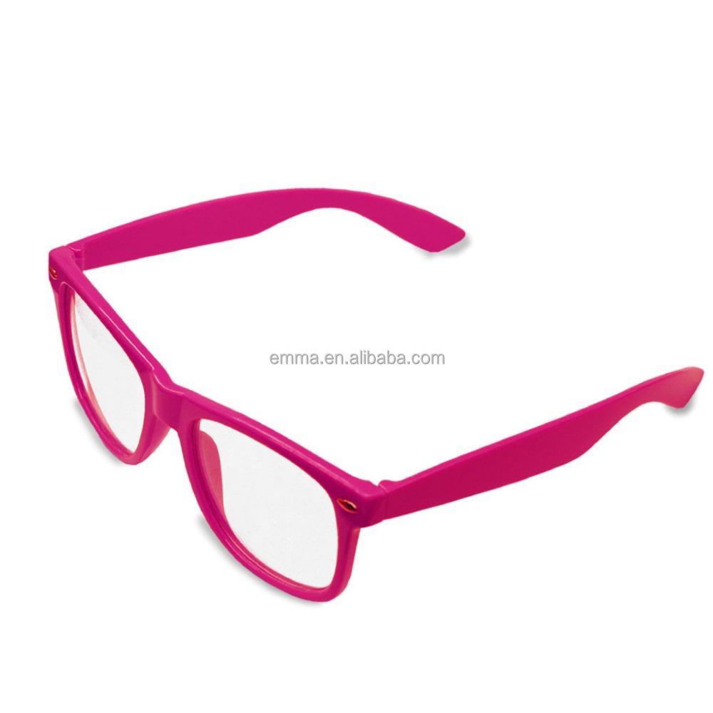 Neon Geek Glasses Festival Fun Party wear 80/'s Coloured Fancy Dress Costume UK