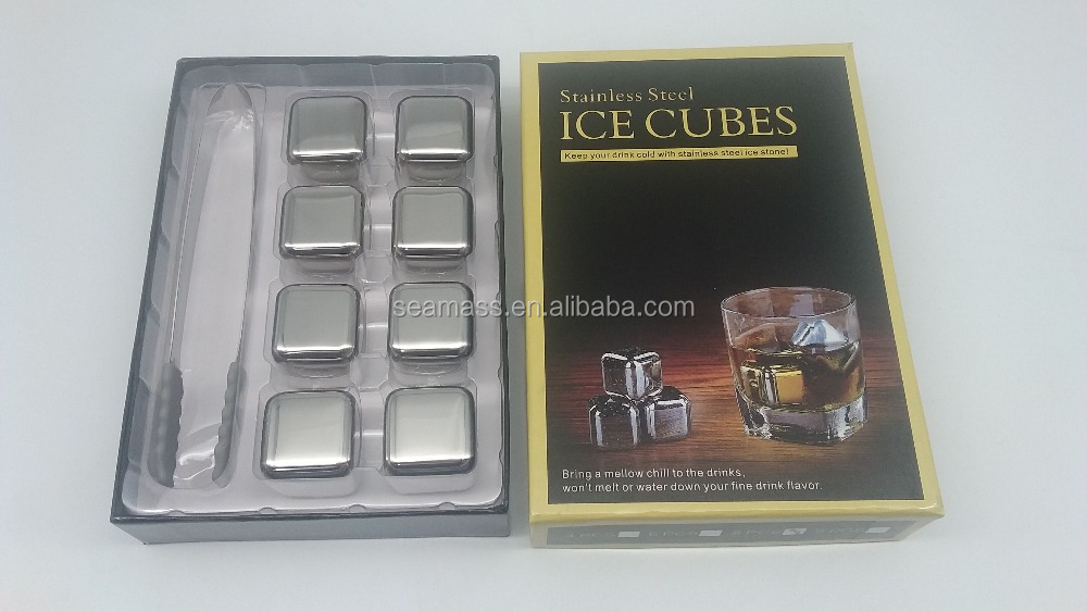 Gift box Customized Stainless Steel Whiskey Stones ICE Cube