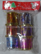 Small Cute Colorful Christmas drum/Christmas Decorations