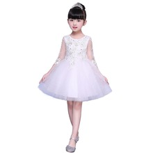 Wholesale kids clothing layer tulle casual skirt flower <strong>girl's</strong> party <strong>dress</strong>