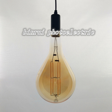 energy saving led lamp made in china 8w 110-240v amber glass PS160 edison led light bulb vintage