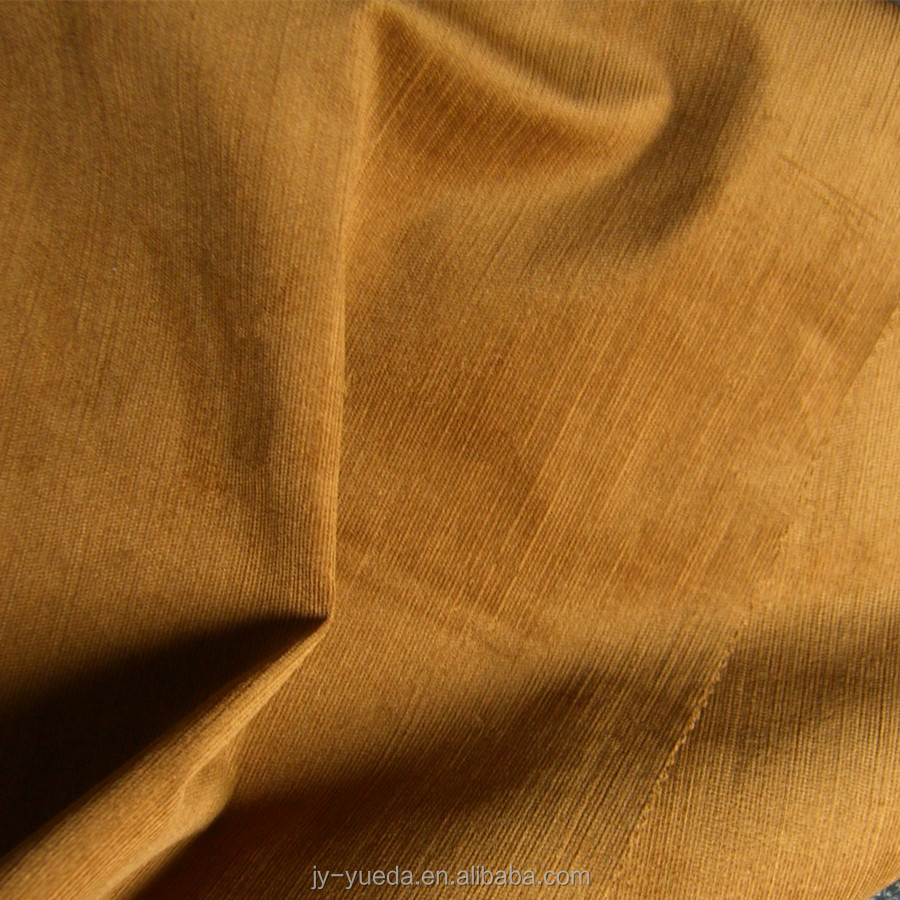 98% Cotton 2% Spandex Intermingled 21Wales Elastane Corduroy Fabric Wholesale