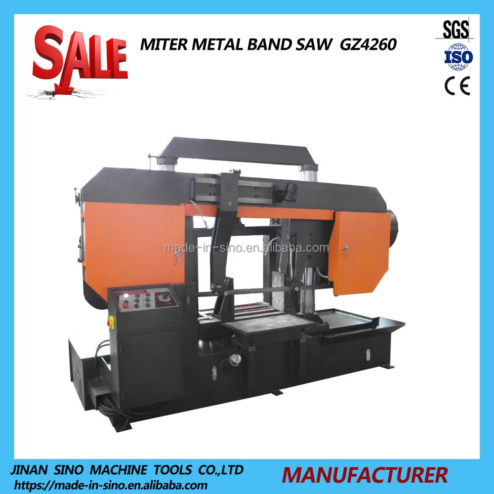 Semi automatic hydraulic gantry bandsaw price for round bar cutter