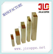 sale hot in 2016square brass tubes CU62ZN38,CU63ZN37