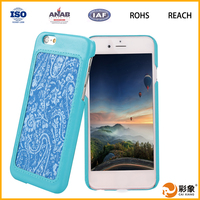 mobile phone bumper silicon case with cartoon pattern