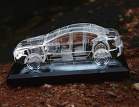 Top Quality K9 Crystal Glass Car Model