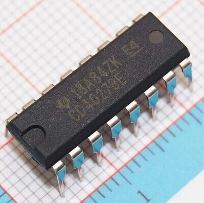 Electronics circuit logic ic CD4027BE DIP16 datasheet