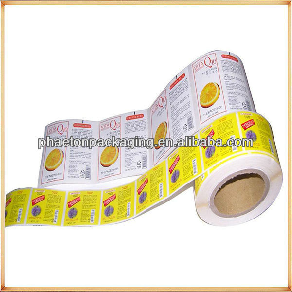 Custom super both sides printed permanent self adhesive stickers