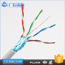High-density polyethylene polyester / aluminum foil 4 pair 24awg ftp cat5e network cable