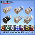 100pcs/lot stainless steel pilot lamp switch LED momentary