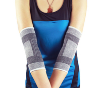 Tennis sport elbow support brace with coopression pad