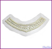 ladies blous collar design, pearl collar