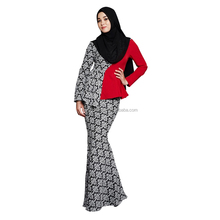 Hotsale Fashion OEM Baju Kurung Islamic Clothing Indian with Slim Dress