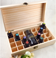 OEM Unfinished solid pine wood essential oil display box