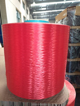 red color high tenacity chemical polyester pet fiber