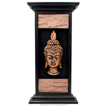 Buddha Decor Collection, Buddha with Candle and Exotic Floral Background Zen Faith Decorative Mystic Home Decor