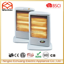 220v Room Heater Portable Halogen Heater With Remote Control
