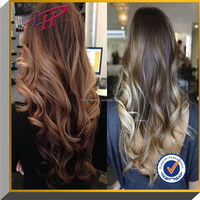 Hot selling Beauty long blonde ombre color hair , 100% Brazilian virgin human hair full lace wig