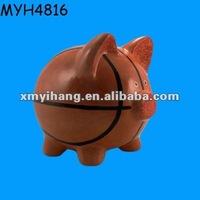 Creative ceramic basketball piggy money saving bank