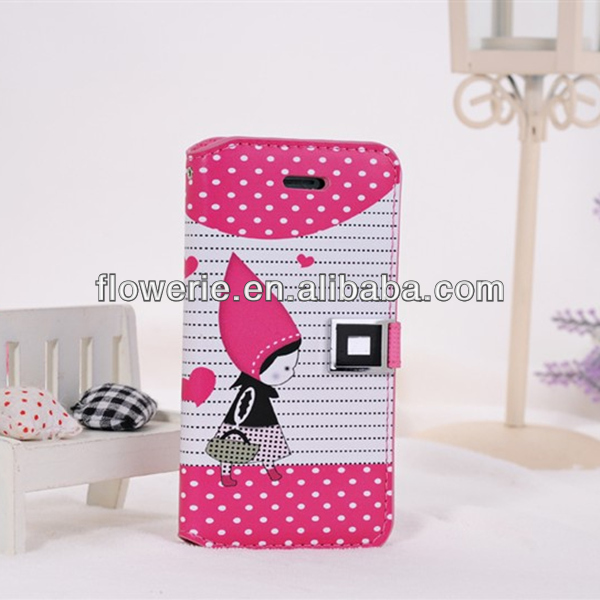FL2753 2013 China new product Korea Style Hoodwinked Leather Flip Case for iphone 5s