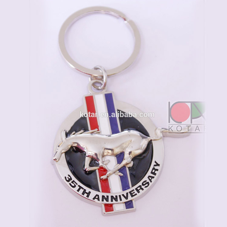 Custom 3D design metal keyring with enamel
