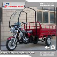 jiangsu three wheel vehicles 1.2*1.7m cargo loading moto rool mobility bajaj