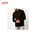 Cotton Polyester Long Sleeve Men's Polo Shirt