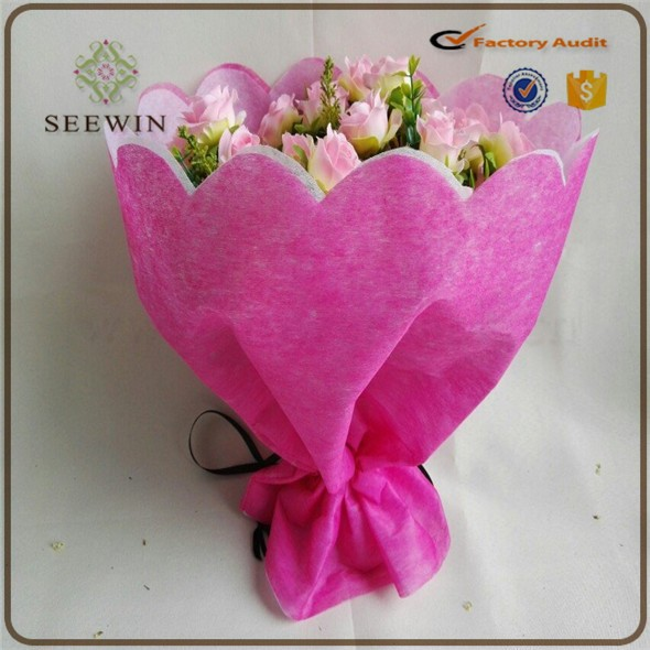 2016 cheap new design wrapping paper for bouquets, fresh flower bouquets packagin