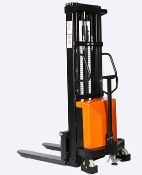 Good quality hydraulic forklift safety lifter semi electric used hand forklift stacker