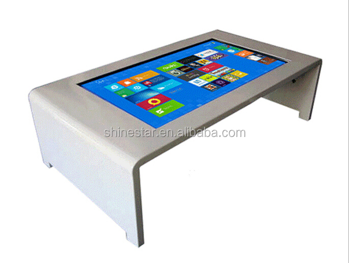 "PC or Android OS 27"" Inch TFT LCD capacitive multi touch interactive multimedia table for game AD player"
