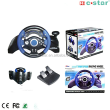 2017 Shenzhen 10 inch with vibration black racing game steering wheel