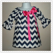 navy blue fashion design small girls child baby dress model chevron dresses for women
