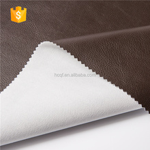 Customized brown recycled bonded leather for upholstery