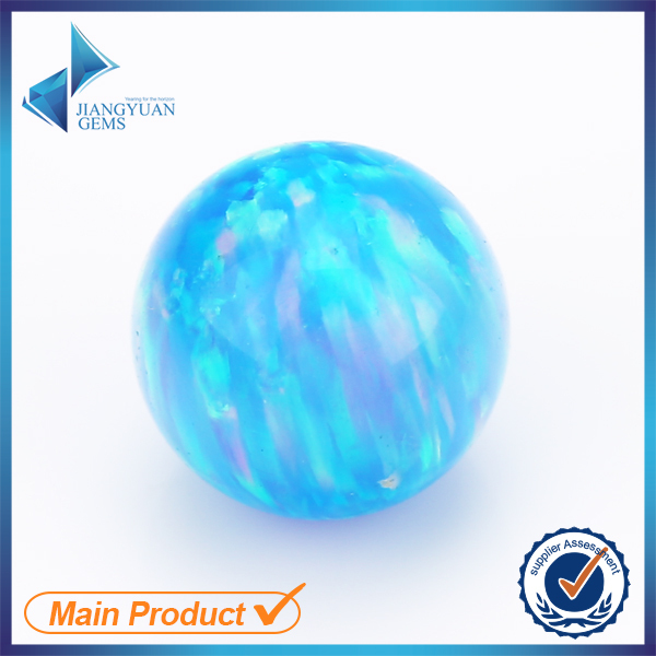 AAA bright blue ball shape Customize synthetic opal stone