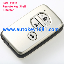 Replacement Remote Key Shell Case FOB For TOYOTA Auris Prius Verso Yaris SMART 2+1 BUTTON REMOTE KEY CASE Shell