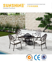 cast aluminum outdoor patio furniture with BBQ grill FCO-CA001