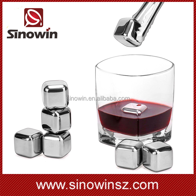 2017 Hot Sales Easy To Use Stainless Steel Ice Cubes Whisky Wine Stone