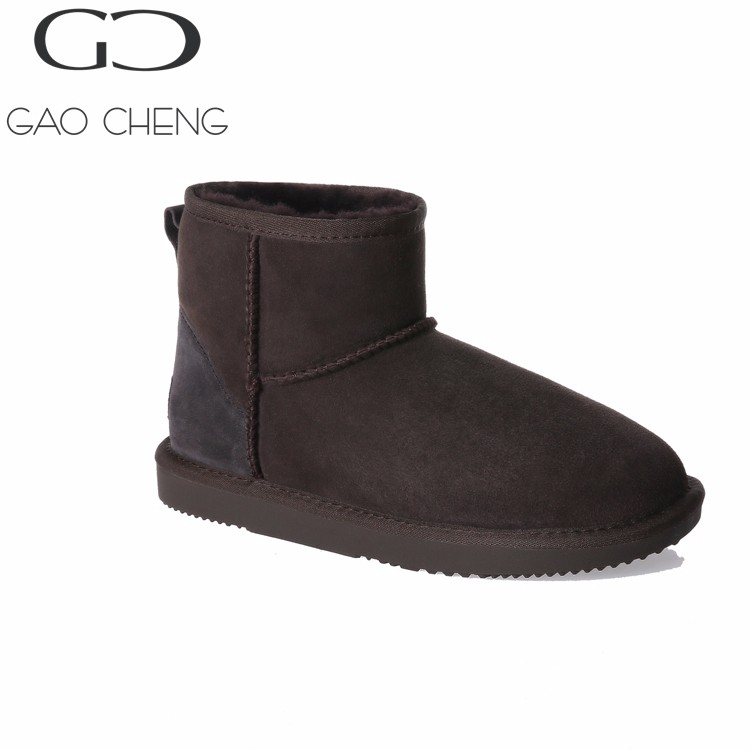 DK001 Chengdu shoe manufactuer winter durable fur snow boots winter warm boots