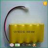 Ni-Cd SC 3000mAh 12v Rechargeable Battery Pack For Emergency Light
